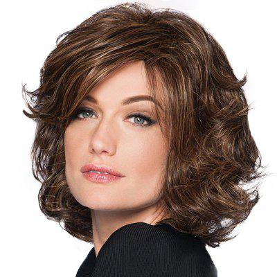 Partial Distribution Type Fluffy Short Wig