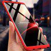 3 in 1 360 Degree Full Body Hard PC Back Cover Case for Samsung Galaxy Note 9 - RED