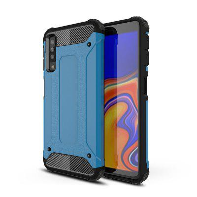 2 in 1 Hybrid Heavy Duty Armor Hard Back Case Cover for Samsung A7 2018/A750