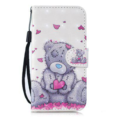 for HuaWei P20 LITE PU Wallet Protective Case 3D Painted Leather Case