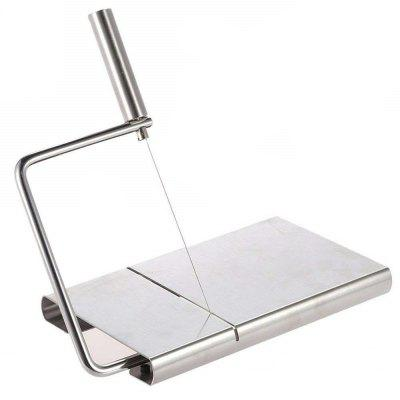 Stainless Steel Cheese Slicer Butter Cutter Knife Board Kitchen Cooking Tool