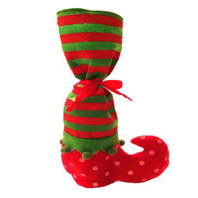 Point Stripe Christmas Stocking Candy Pouch Wijnfles