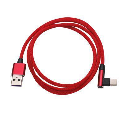 USB Type-C 90 Degree Fast Charging Cable  Type-c 3.0 Data Cord for Huawei