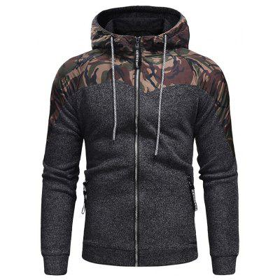 Men's Fashion Hat Rope Camouflage Long Sleeved Body Knitted Jacket
