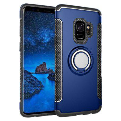 Cover ad anello in metallo rotante Dual Layer Armor 360 per Samsung Galaxy S9 / S9 Plus