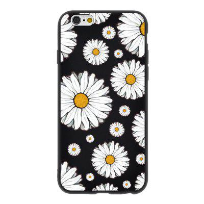 Full Screen Daisy Candy Black Protective Flexible Soft Case for iPhone 6 / 6S