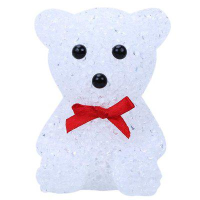 Crystal LED Christmas Decoration Light Night 7 Colors Changing Bear Snowman