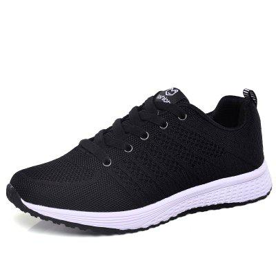 Women Breathable Lightweight Flying Woven Mesh Sports Running Shoes