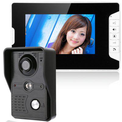 7 Inch Video Door Phone Doorbell Intercom Kit Night Vision with IR-CUT HD 1000TV