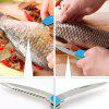 Stainless Steel Fishing Pliers Curved Nose Scissors Braid Cutters Hook Removers - DEEP SKY BLUE