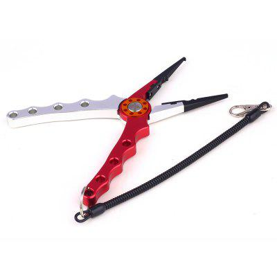 Aluminum Fishing Pliers Line Cutting and Split Ring with Lanyard and Sheath