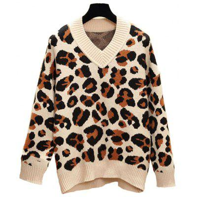 Women's Plus Size Round Collar Long Sleeve Casual Sweater
