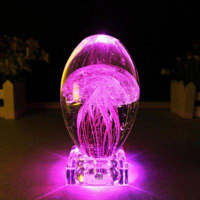 YWXLight 0.7W DC 5V 3D Jellyfish Model LED Lighting Crystal Night Light