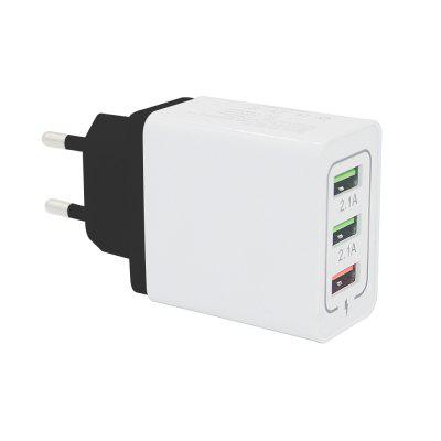Minismile 30W QC 3.0 Quick Charge 3-Port Power Adapter EU Plug Wall Fast Charger