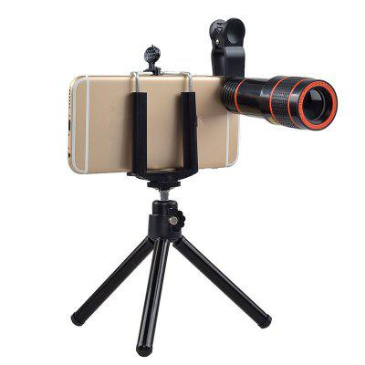 12 Times Zoom Optical Lens Telescope and Universal Holder For Camera Cell Phone
