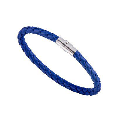 Man Woman Leather Cord Bracelet Woven Braided Strap Rope Bangle Gift