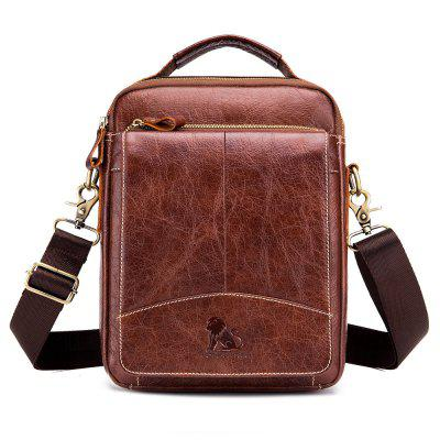 LAISHIOZI  New First Layer Leather Small Shoulder Business Casual Messenger Bag