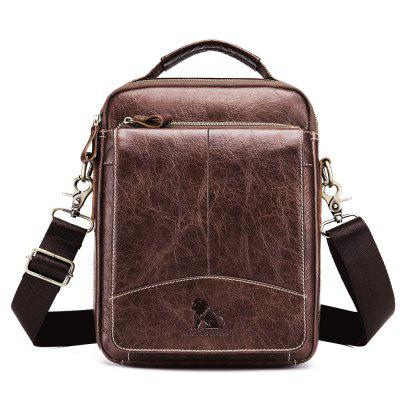 Men's new first layer leather small shoulder business casual Messenger bag