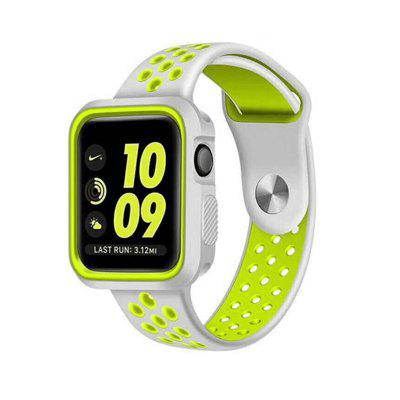 Dual Colors Soft Silicone Case +Watch Band For Apple Watch Series 4 44MM