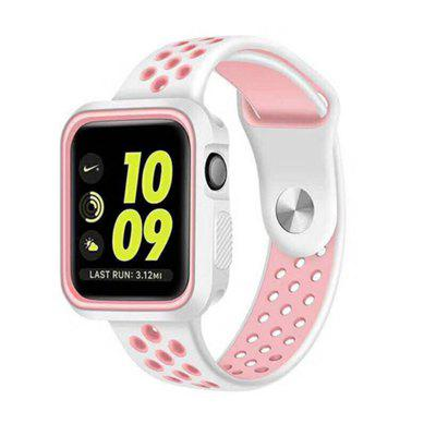 Dual Colors Soft Silicone Case +Watch Band For Apple Watch Series 4 40MM