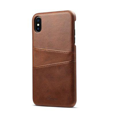 Portfel skórzany Vintage Card ID Holder Slot Slim Case dla iPhone XS Max