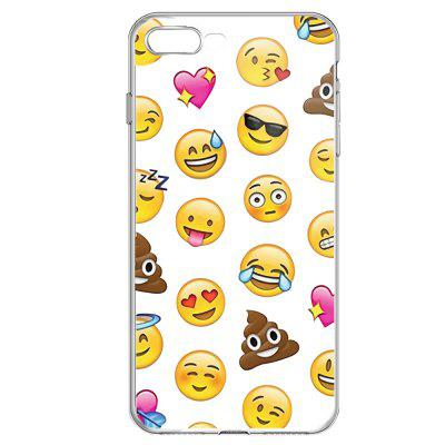 Yellow Face Emojis Transparent Protective Flexible Soft Case for iPhone 7Plus