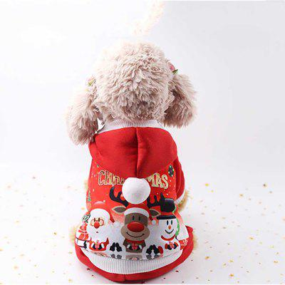 Christmas Pet Clothes Dogs And Cats Autumn/Winter Buttons Clothing