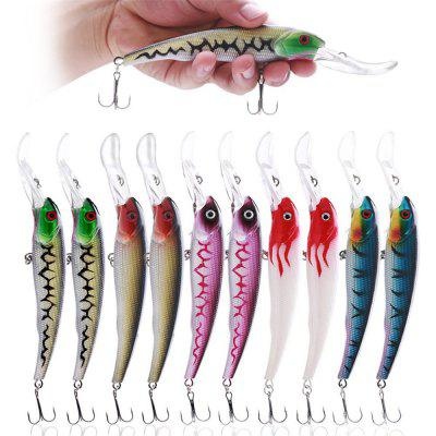10Pcs Big Minnow Fishing Lures Deep Sea Bass Lure Artificial Wobbler Fish