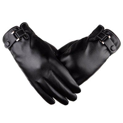 PU Men Touch Waterproof Thicken Gloves