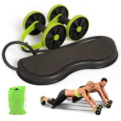 Handise Multi-Functional Ab Roller Wheel with Mat Abdominal Fitness Equipment
