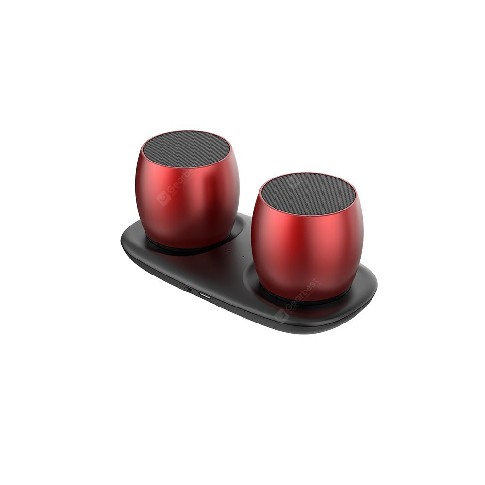 H15 Bluetooth Stereo Nirkabel Sejati 120 X 57 X 57MM - RED WINE 120 * 57 * 57MM