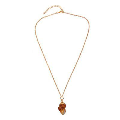Gold Natural Shell Pendant Necklace