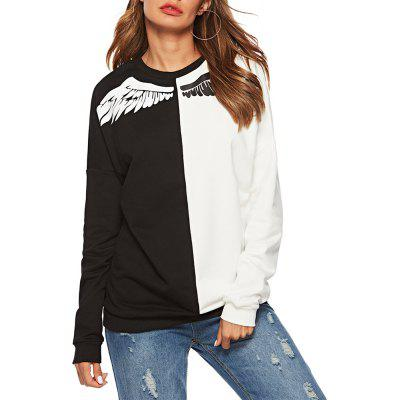 2018 New Women'S Black-And-White Large-Size Casual Jackets for Casual Wear.