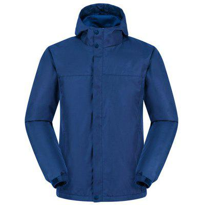 New Men Fashion Scratching with Cap Solid Emergency clothing Soft Shell Jacket
