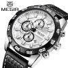 MEGIR 2096 Multi-Function Sports Japanese Movement Men'S Watch - WHITE