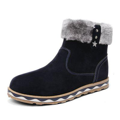 ZEACAVA Winter Snow Boots Cotton Boots High Shoes
