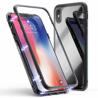 Magnetic Adsorption Tempered Glass Metal Case for iPhone XS Max