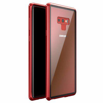Magnetic Adsorption Tempered Glass Metal Case for Samsung Note 9