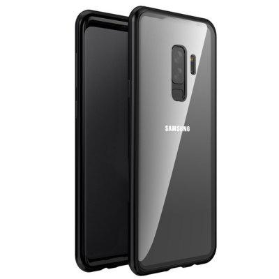 Magnetic Adsorption Tempered Glass Metal Case for Samsung Galaxy S9 Plus