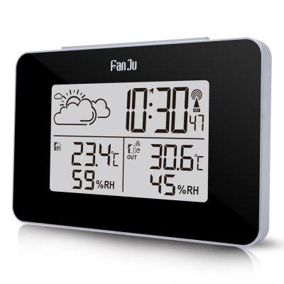 FanJu FJ3364 Weather Station with Alarm Clock Weather Monitor Clock with Indoor
