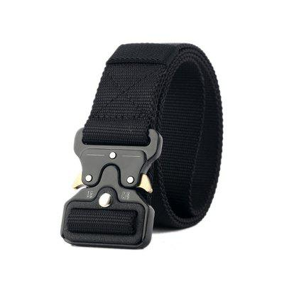 New Army Style Tactical Men Thickening With Metal Buckle Nylon Belt