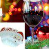 10pcs verre à vin carte ornements de noël décoration verre de vin - MULTI-D
