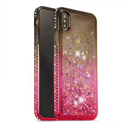 Dynamic Liquid Glitter Quicksand Case Gradient Diamond Cover per Iphone XS Max