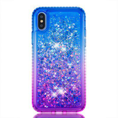 Etui z gradientem dla Iphone XS Quicksand + Diamond Back Cover For Iphone X