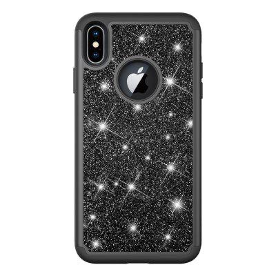 Custodia antiurto per TPU + PC Bling Glitter 2 in 1 per cover posteriore Iphone XS Max