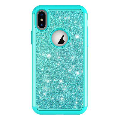 Custodia antiurto per Iphone XS Bing Glitter TPU + Cover posteriore per PC per Iphone X 10