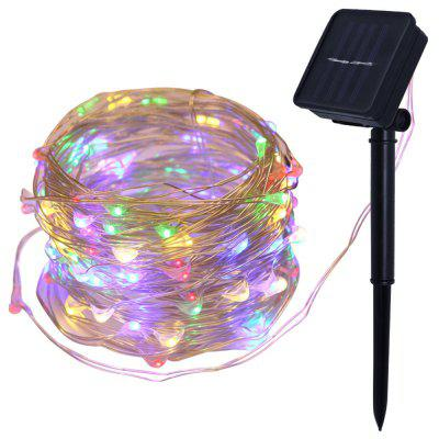colorful Solar String Lights 100 LED Fairy 10M Outdoor Indoor Decorative