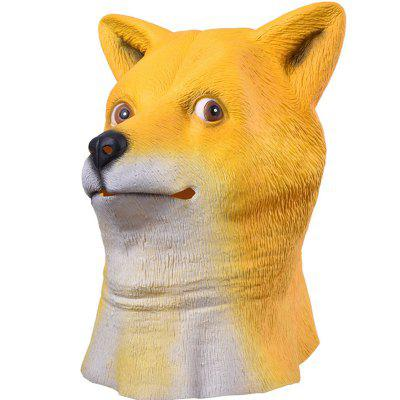 1PCS Halloween Creepy Rubber Animal Doge Shiba Inu Dog Head Mask Cosplay Party