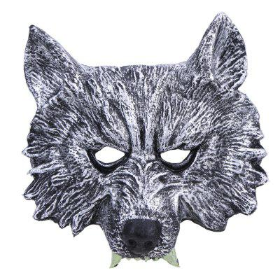 1Pc Halloween Creepy Rubber Animal Werewolf Wolf Head Mask Cosplay Party Costume