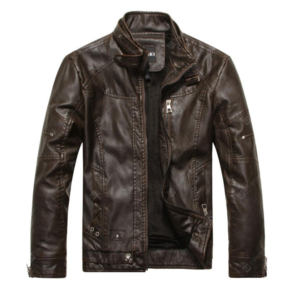 Motorcycle Jacket European and American Style Men's Leather Jacket